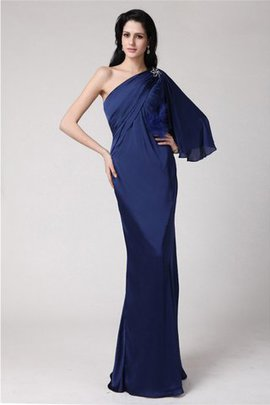 Long Feathers One Shoulder Fur Sleeveless Prom Dress
