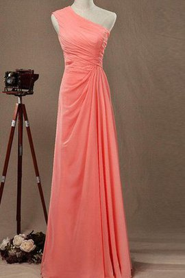 Ruched Chiffon Elegant & Luxurious A-Line One Shoulder Bridesmaid Dress
