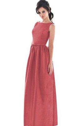 Suitable Zipper Up Sleeveless Simple Bridesmaid Dress