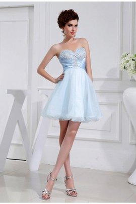 Sweetheart A-Line Zipper Up Appliques Sleeveless Bridesmaid Dress