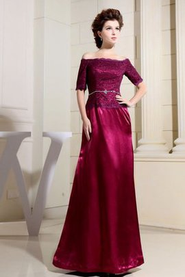 Short Sleeves Beading Temperament Long Evening Dress