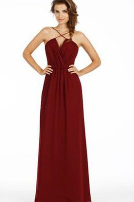 Sexy Spaghetti Straps Zipper Up Ruched Simple Bridesmaid Dress