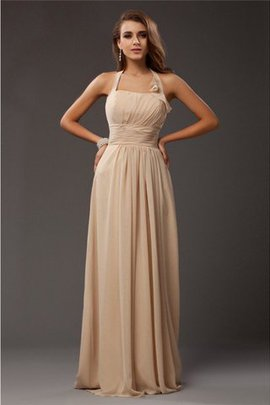 Empire Waist Ruffles Sleeveless Long Floor Length Bridesmaid Dress