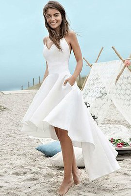 Fantastic Ruched Backless Asymmetrical Sleeveless Asymmetrical A-Line Wedding Dress