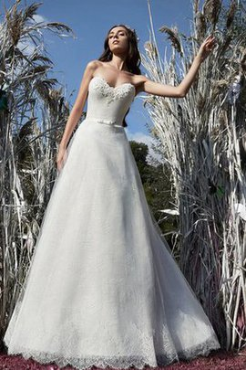 Sashes Lace Fabric Floor Length Sleeveless Appliques Wedding Dress