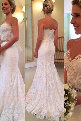 Mermaid Sweetheart Sleeveless Pompous Absorbing Long Hourglass Wedding Dress