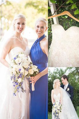 Sleeveless Princess Sweetheart Tulle Natural Waist Wedding Dress
