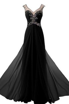A-Line Zipper Up Elegant & Luxurious Floor Length Prom Dress