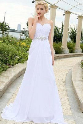 Elegant & Luxurious Simple Chiffon Draped Long Wedding Dress