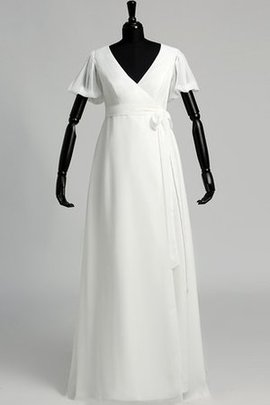 Vintage Zipper Up Elegant & Luxurious Puffy V-Neck Wedding Dress