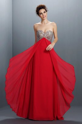 Beading Floor Length Sweetheart Sequined A-Line Prom Dress