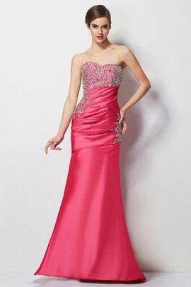 Floor Length Long Sweetheart Beading Taffeta Prom Dress