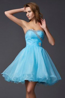 Sweetheart Short Sleeveless Empire Waist Beading Homecoming Dress