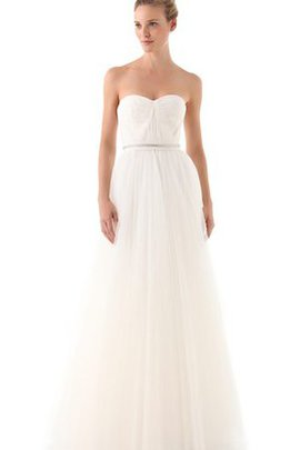 Sleeveless A-Line Zipper Up Sashes Simple Wedding Dress