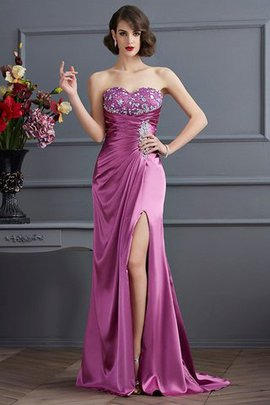 Sweetheart Beading Sheath Long Lace-up Prom Dress