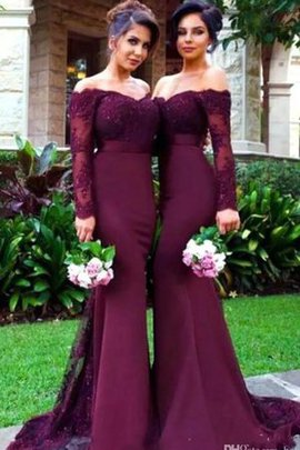 Lace Elegant & Luxurious Sexy Chiffon Zipper Up Bridesmaid Dress