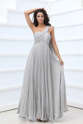 Chiffon Crystal Vintage One Shoulder Empire Waist Mother Of The Bride Dress