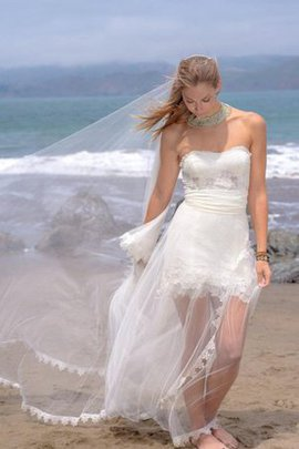 Sweetheart Tulle Zipper Up See Through Wedding Dress