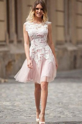 Lace-up Appliques Sexy Bateau Simple Homecoming Dress