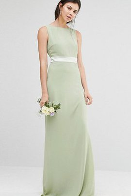 Sheath Sleeveless Floor Length Sweep Train Modest Bridesmaid Dress