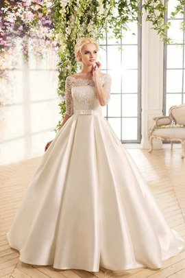 Elegant & Luxurious Ball Gown Floor Length Pleated Vintage Wedding Dress