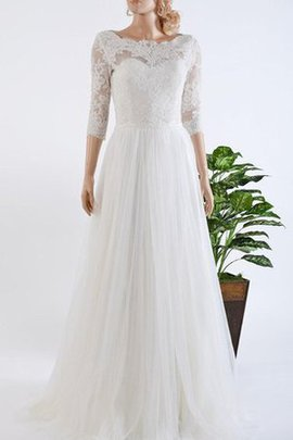 Vintage Floor Length A-Line Sleeveless Lace-up Wedding Dress