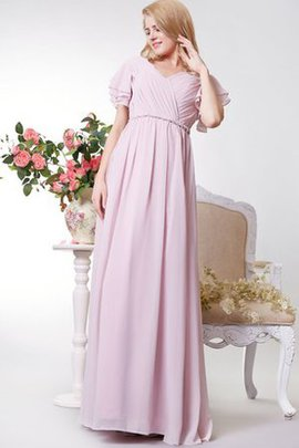 Sleeveless Floor Length Ruffles Ruched A-Line Bridesmaid Dress