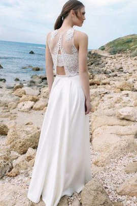 Jewel Sleeveless 2 Piece Simple Chic & Modern Wedding Dress