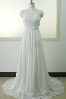 Beach Lace Fabric Satin Floor Length Wedding Dress
