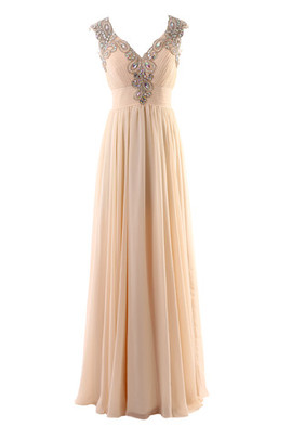 Ankle Length Sweep Train Zipper Up Long Romantic Evening Dress