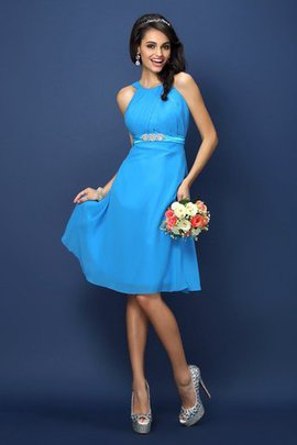 Princess Sleeveless Knee Length Bridesmaid Dress