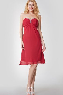 Ruched Chic & Modern Sweetheart Empire Waist Short Bridesmaid Dress