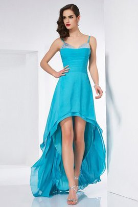 Sleeveless Asymmetrical A-Line Chiffon Natural Waist Prom Dress
