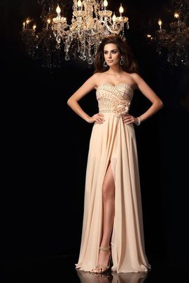Sleeveless Long Sweetheart Flowers Princess Evening Dress