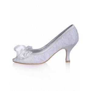 High-heeled Lace Fish Head With Fine Bride Schu - 2