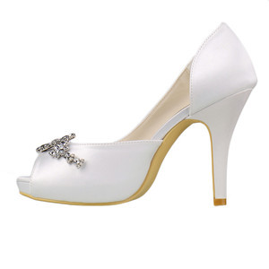 Romantic Heels Platform Actual Heel Height 3.94 Inch Wedding Shoe - 2