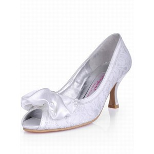 High-heeled Lace Fish Head With Fine Bride Schu - 1