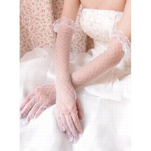 Tulle Elegant White Bridal Gloves - 2