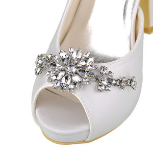 Romantic Heels Platform Actual Heel Height 3.94 Inch Wedding Shoe - 6
