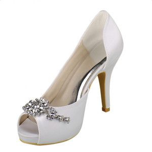 Romantic Heels Platform Actual Heel Height 3.94 Inch Wedding Shoe - 1