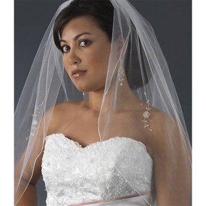 With Application Short Wedding Veil - 1