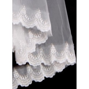 Lace Hem Wonderful Short Wedding Veil - 2