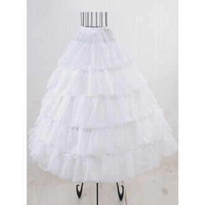 Amazing Tiered Ankle Length A Line | Princess Crinolines - 1