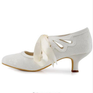 Elegant Actual Heel Height 1.97 Inch Summer Wedding Shoe - 3