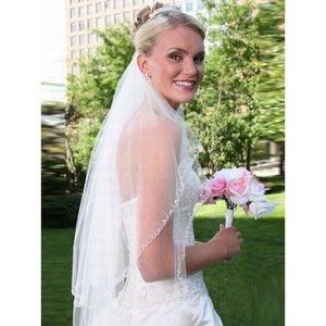 Elegant Short Wonderful Wedding Veil - 1