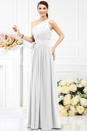 Long Sleeveless A-Line One Shoulder Bridesmaid Dress - 28