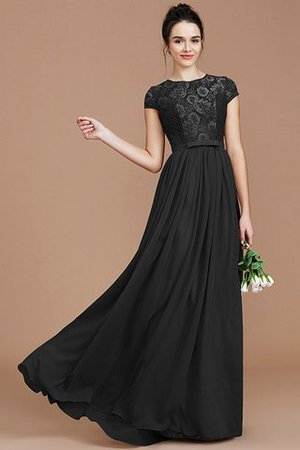 A-Line Jewel Lace Short Sleeves Bridesmaid Dress - 9