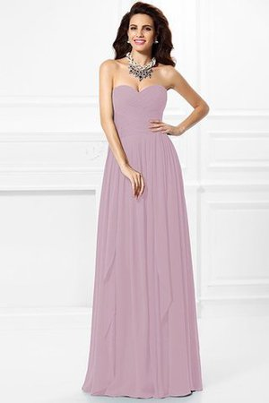 A-Line Zipper Up Long Floor Length Bridesmaid Dress - 20