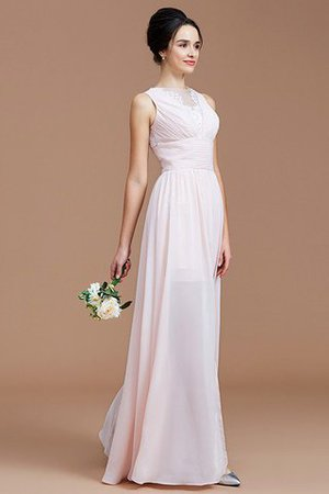 Ruched Zipper Up Natural Waist Jewel Sleeveless Bridesmaid Dress - 1