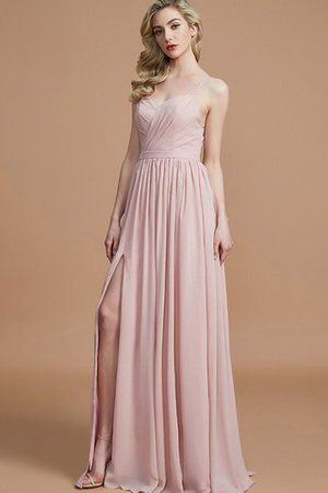 Natural Waist Sleeveless Floor Length Princess Chiffon Bridesmaid Dress - 4